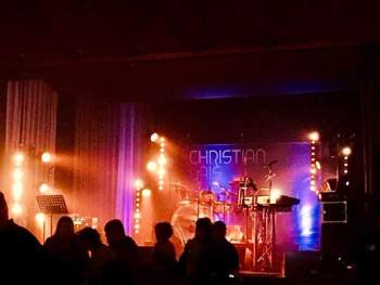 Christian Lais mit Band in Bad B