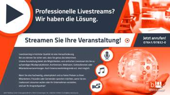 Weiterlesen: Professionelle Livestreams? B&HP